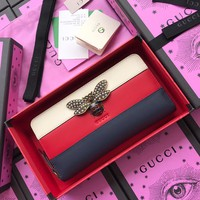 Gucci Queen Margaret leather zip around wallet