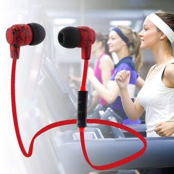 New Design Fashion Wireless Bluetooth 4.0 Earphone Portable Stereo Headset Noise Cancelling Headphones With Mic for iPhone 7