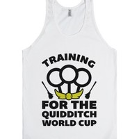 Training For The Quidditch World Cup-Unisex White Tank
