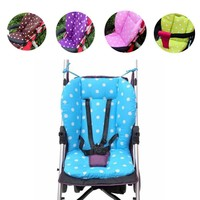 Colorful Cute Baby Infant Stroller Seat Pushchair Cushion Cotton Mat White Dot Car Seat decorative pillows Free shipping
