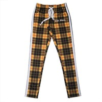 Plaid Print Track Pants