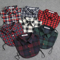 2016 New Arrival Fake Collar Classic Plaid All Matching Detachable Shirt Collars adult unisex