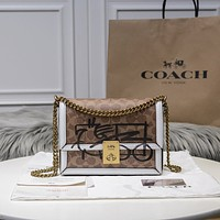 Coach Fashion Women Shopping Bag Leather Handbag Shoulder Bag Satchel Crossbody