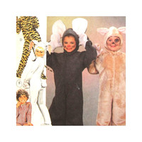 Pattern Kids Halloween Costumes Animal Costumes Bunny Rabbit Mouse Tiger or Pajamas Size 2