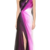 One Shoulder Gown with Side Slit