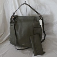 Coach Park Leather Hobo Olive 31323 + Park Leather Soft Wallet 51762