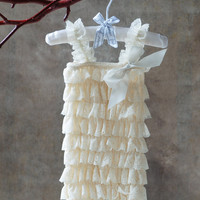 Ivory Petti Romper - Baby Girl Clothing - Photography Prop