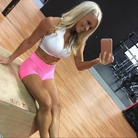 FNMM 2018 Women Sexy Yoga Shorts Breathable Sports Clothing Push Up Running Gym Sport Shorts For Workout Athletic FitnessLeggin