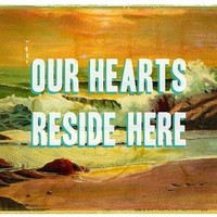 $25.00 Our Hearts reside here small print by pleasebestill on Etsy