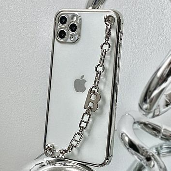 Metal chain iPhone12 pro max iPhone 11 mobile phone case