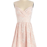 ModCloth Pastel Mid-length Spaghetti Straps A-line The Sweetest Garden Dress