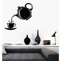 Wall Stickers Vinyl Decal Teapot And Cup Of Tea Decor For Kitchen (z1907)