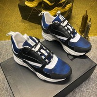 Dior Women's Leather Fashion Low Top Sport Sneakers Shoes-KUYOU