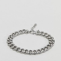 ASOS DESIGN midweight chain bracelet in silver at asos.com