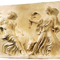 Bacchantes and Bull Greek Roman Wall Relief 39.5W