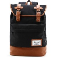 hotstyle 924s Classic Canvas Vintage Fashion Unisex Rucksack Laptop Backpack Daypack Shoulder Bag Pack (17L) For School Camping Travel Fits Acer Aspire, MacBook, Chromebook, Surface Pro