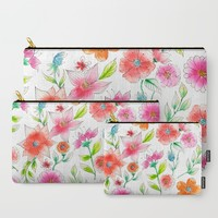 Spring flowers Carry-All Pouch by juliagrifoldesigns