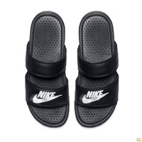 Women's Nike Benassi Duo Ultra Slide Sandal + Crystals - Black