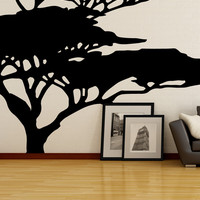 Vinyl Wall Decal Sticker African Tree #OS_MB554