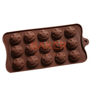 New 15 even silicone mold Super Mario avatar smile silicone chocolate mould ice tray mold DIY baking molds CDSM-226
