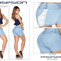 100%  Authentic Colombian  Push Up SHORT 8878 by Posesion (R)