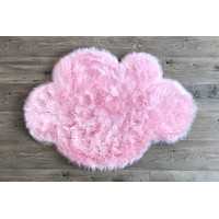 PRE-ORDER Machine Washable Faux Sheepskin Cloud Cotton Candy Pink Area Rug