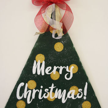 Christmas Door Hanger Christmas Decor Merry Christmas Door Hanger