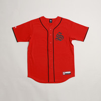 CNCPTS / Stussy S Baseball Jersey (Red)