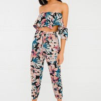 Piece Of Paradise Set - Black Floral