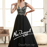 Anne Queen Neckline Prom Ball Gown By Mac Duggal 65083H
