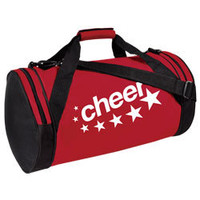 Round Duffle Bag with Cheer Imprint