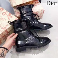 DIOR Trending Popular Women Leather Shoes Boots