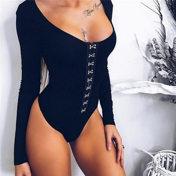 Hot Sale Summer Women's Fashion Long Sleeve One-piece [11705959887]