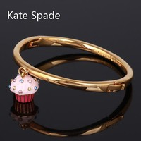 Kate Spade New fashion cake diamond women bracelet golden