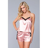 Plus Size Jasmina Satin Cami & Short Set