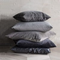 Fine Blacks and Greys Velvet Throw Pillow Covers