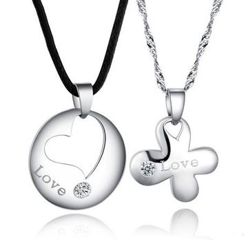 Heart and Clover Leaf Friendship Matching Necklaces for Girls Personalized Couples Jewelry | Occasions Uncommon Gifts | Unique Phone Cases | Worldwide Shipping