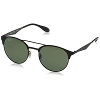 Ray-Ban Unisex RB3545 186/9A Black Frame Polarized Green 51mm Lens Sunglasses