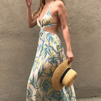 Tahitian Princess Cut Out Maxi Dress