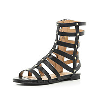 River Island Girls black high gladiator sandals