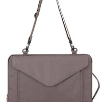 Plemo Sleeve Briefcase Case with Shoulder Strap for Notebook Computer / MacBook / Ultrabook / Chromebook - 15-15.6 Inches (Grey)