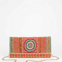 From St. Xavier Kali Beaded Clutch- Black One