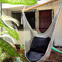 Grey Color Sitting Hammock Hanging Chair Natural by hamanica