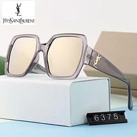 YSL Trending Women Men Stylish Summer Sun Shades Eyeglasses Glasses Sunglasses Grey Frame I-A-SDYJ