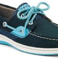 Sperry Top-Sider Bluefish Sport Mesh 2-Eye Boat Shoe Navy/TurquoiseSportMesh, Size 10M  Women's Shoes