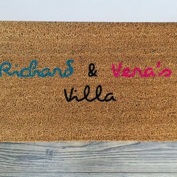 Love Island Doormat - Love Island -Funny Door Mat - Housewarming Gift - Welcome Doormat - Gift for Her - Gift For Him
