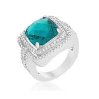 Candy Aqua Cocktail Ring, size : 09