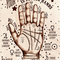 The Practice of Palmistry - Art Print