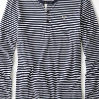 AEO Men's Vintage Striped Henley