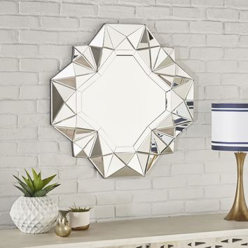 Easter Geometrical Square Silver Finished Wall Mirror